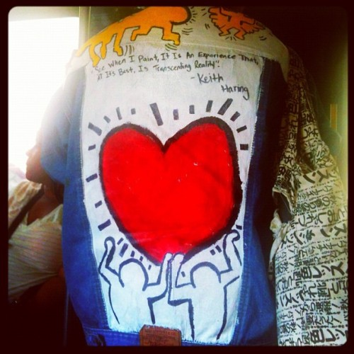She said a friend made it for her… #KeithHaring #art  (Taken with Instagram)