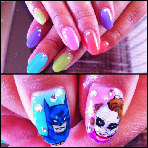 My new Batman nails! Sorry, but fuck yo artist! :p