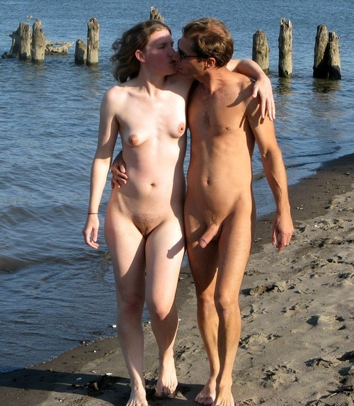 Hot kiss in the beach