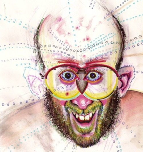 Artist Takes Every Drug Known to Man, Draws Self Portraits After Each Use (via cultso) (Image above is a self portrait resulting from mushrooms)