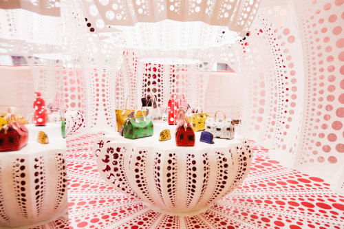 Louis Vuitton X Yayoi Kusama Selfridges Wonder Room concept store photographed by Shini Park