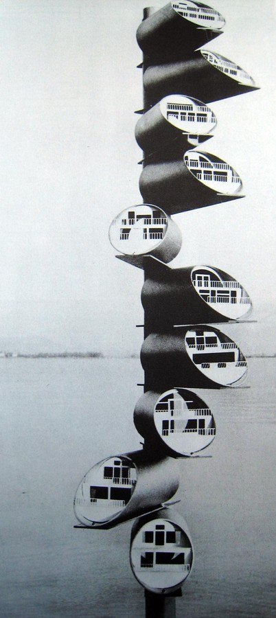 Guy Dessauges, modular apartments, 1960.