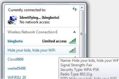 LOL My neighbor's WiFi name