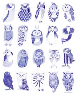 #Owl street illustration.