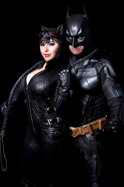 bethany-maddock:   Batman and Catwoman. Photo by: Rodney Brown This was taken at a charity event I went to a few weeks ago where we were raising money for the Aurora victims. Rodney set up a very nice photobooth for people to come take photos and just so happened to capture this shot of my friend and I. ^__^