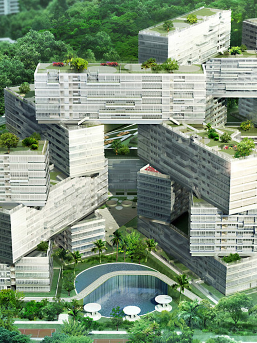 landlessness:  the interlace, singapore