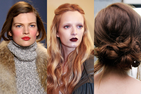 True blush, dark lips, and undone updos… which of these Fall looks are you most excited to try?