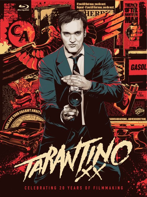 Tarantino XX: Celebrate 20 Years Of Filmmaking With The Ultimate Blu-ray Set This looks like a great set, although I already have most of these on blu-ray (although that amazing cover and the two bonus discs are tempting) but I have to wonder why this isn't being used as an excuse to finally release Kill Bill: The Whole Bloody Affair?