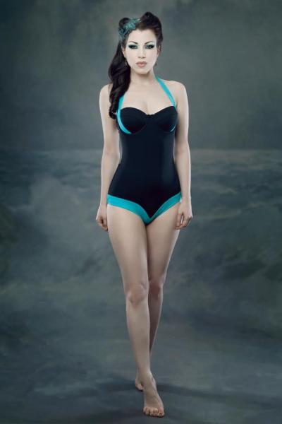 tootsandbooty:  A very very early sneak peek at Kiss Me Deadly's S/S13 swimwear! As much as you probably don't even want to think about swimwear right now… this is smoking hot.