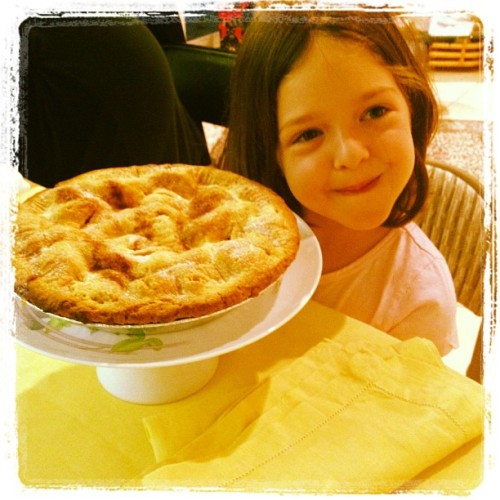Alex and her apple pie!! (Taken with Instagram at grandma's house)