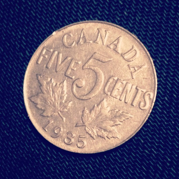 thats an old ass nickle. #1935 (Taken with Instagram)