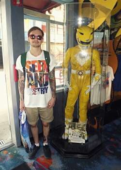 Me with the Yellow Ranger costume used in MMPR The Movie :)