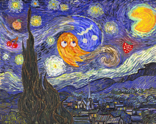 Van Gogh had a bad case of Pac-Man Fever (Image by ~SirNosh)