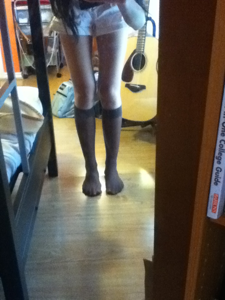 "i accidentally wore this w/ sheer knee highs on decade day aka u dress up as someone from another decade and i got weird looks all day """"""…wat decade r U dressing as"""""" and likE DOES MY SCHOOL NOT KNOW FASHION !!!!!!!!!!!!!! evn friends judged me but its ok be mad bc u cant look like this <3 <3 <3 kisses kisses sister, thats fashion"
