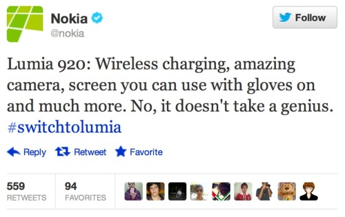 So, Nokia, I guess the real question is: does it take a genius to ship?