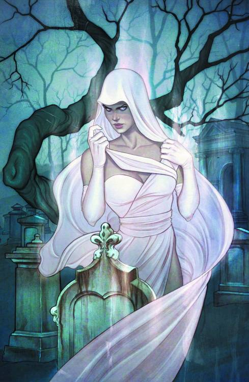 Market Monday Ghost #0, written by Kelly Sue DeConnick, cover by Jenny Frison  Former journalist Vaughn Barnes has been reduced to moonlighting as cameraman for the shoddy paranormal investigation cable TV show Phantom Finders. But when a curious device summons the specter of a beautiful, translucent woman, Vaughn is plunged into a mystery of criminal intrigue that spans two worlds! Kelly Sue DeConnick and Phil Noto launch their exciting new take on one of Dark Horse's most popular characters ever!  ~Preview~