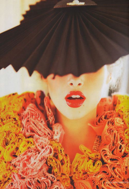 How lush is this photo? Ellen von Unwerth for Vogue Russia, April 2011 via the Fashion Spot.