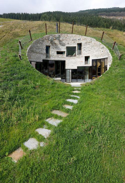 lovedesignlife:  This is not Photoshopped: An underground house in Switzerland, designed by SeARCH and Christian Muller Architects. (via Likecool)