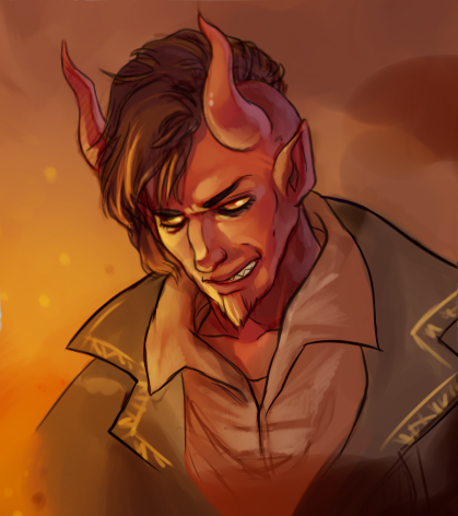 cowsgomoose:  Quick little Tibalt sketch/painting thing. Yay fanart! (It's small because I forgot to put it at 300 dpi, my bad!)  The Tibbles : D