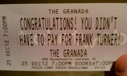 Best. Ticket. Ever.