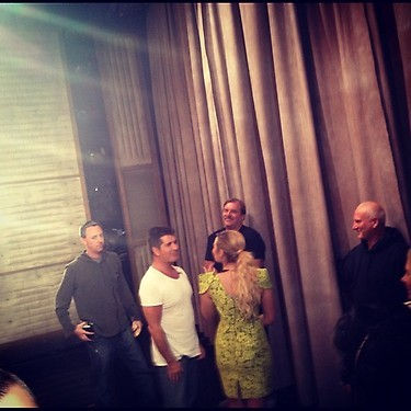 Simon Cowell & Demi Lovato backstage at The Conan O'Brien Show