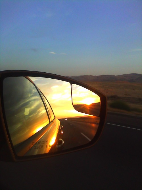 On our drive to San Diego Comic Con 2012. Best picture I have ever taken I think.