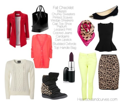 Fall Fashion Checklist. What will you be wearing this fall?
