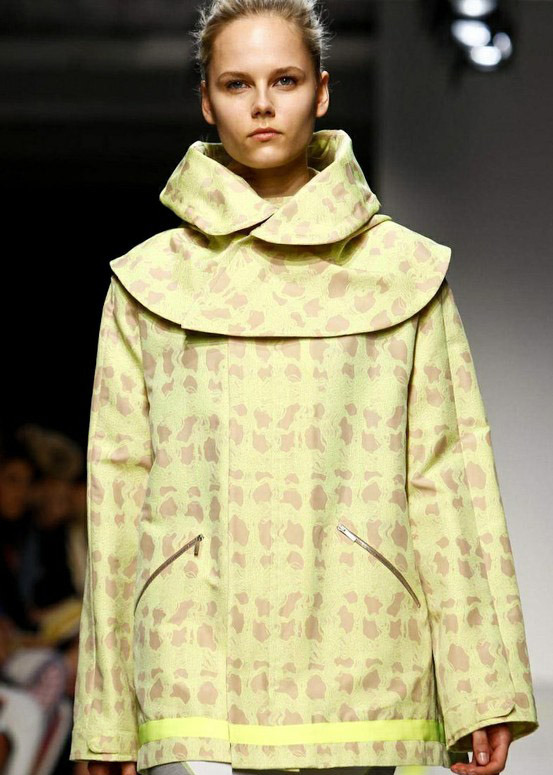Design Revelation: The Anorak| Richard Nicoll S/S 2013 #LFW Killer Noveau Camouflage print and double collar
