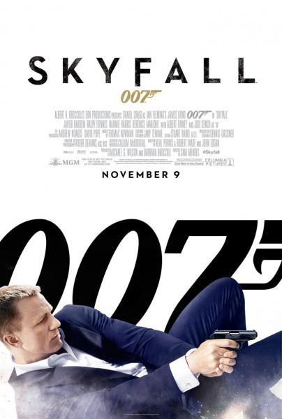 "New movie poster for the upcoming James Bond film ""Skyfall"" starring Daniel Craig and opening in November 2012. Click the pic to watch the most recent trailer for the movie."