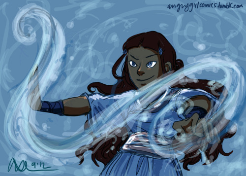 this girl became a waterbending MASTER at age 14 and helped save the world WHAT HAVE YOU DONE WITH YOUR LIVES  quick Katara doodle before I pass out from exhaustion  I have many feelings about Katara mostly about how much of a baller she is and how she doesn't take shit from anyone