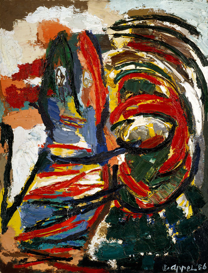 Karel Appel - The Crying Crocodile Tries to Catch the Sun, 1956. Oil on canvas
