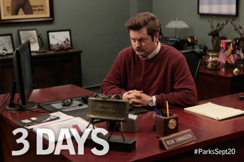 nbcparksandrec:  Ron Swanson is ready, are you?