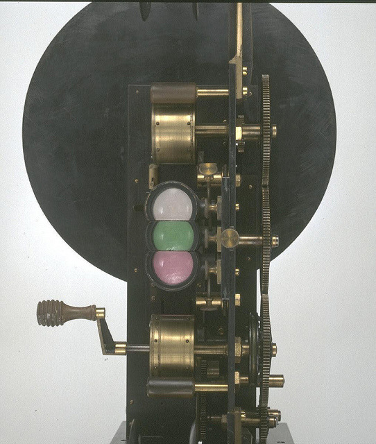 this thing looks like a Duchamp contraption Lee and Turner Colour Projector, 1902. via National Media Museum