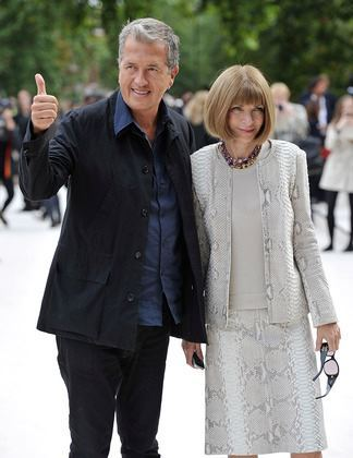 Anna Wintour and Mario Testino at Burberry Prorsum S/S 2013