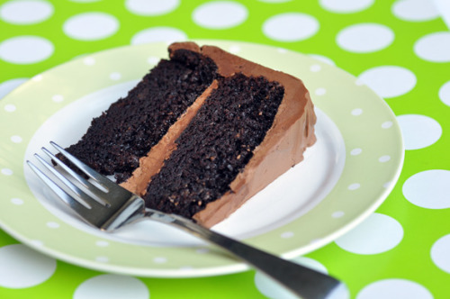 double chocolate layer cake.