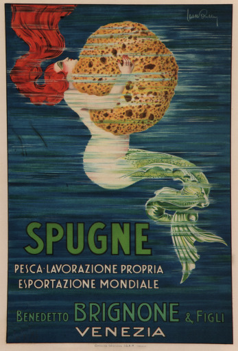 "sailorgil:  "" SPUGNE ""  …  Vintage Advertising for Sponges, Venice [1920] by Artist: L. Buttin, Italy"