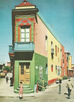 vintagenatgeographic:  Building in the Boca neighborhood of Buenos Aires, Argentina National Geographic | March 1958