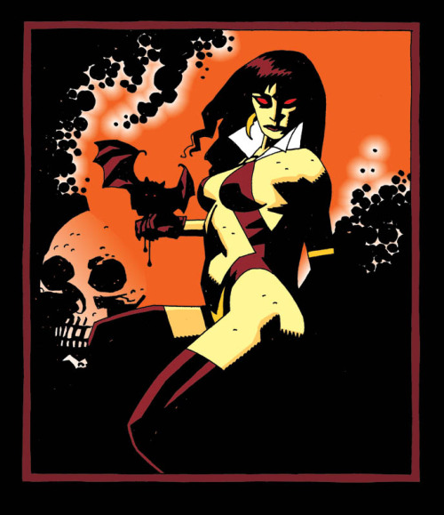 themightyclint:  Vampirella by Mike Mignola