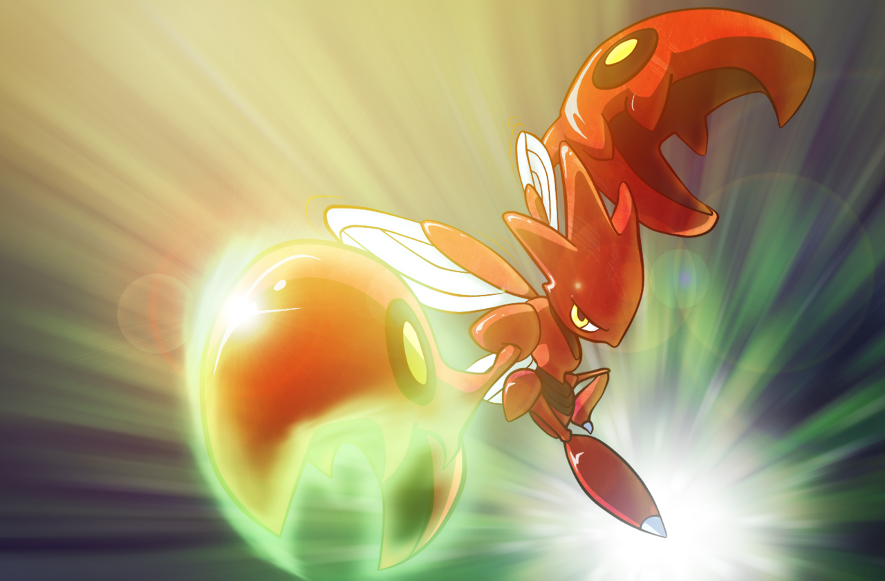 all-the-pokemon:  Scizor strikes back