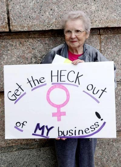 becauseiamawoman:  Cute old ladies protesting are my absolute favorite.