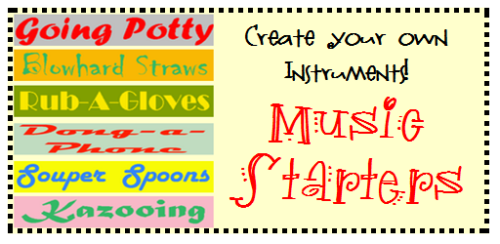 Create Your Own Mini-Orchestra with these Crafty Music Starters. #musicchat #scichat #kinderchat #1stchat Easy to follow instructions to create 6 instruments. Great for science too!  You may also like… Fun Spin Drum Tutorial Bottle Cap Castanets   Kids Make Music Online Science and Math Toys from Trash