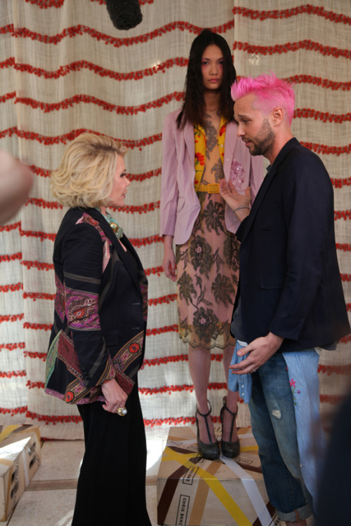 Joan Rivers + Chris Benz. NYFW  Alexandra Frumberg for Glitter Guide.