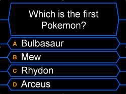 soporcupcakes:  TRICK QUESTION!  It can be all of them. Bulbasaur is the first one listed in the national pokedex. Mew is said by scientists to be the ancestor of Pokemon because its DNA is said to contain the genetic codes of all Pokémon. It was also the first Pokemon to receive trademark. Rhydon was the first Pokemon ever created for the franchise and be encoded in the games. And Arceus is known to be the first Pokemon in the universe, being born in nothingness and then shaping the Pokemon world.