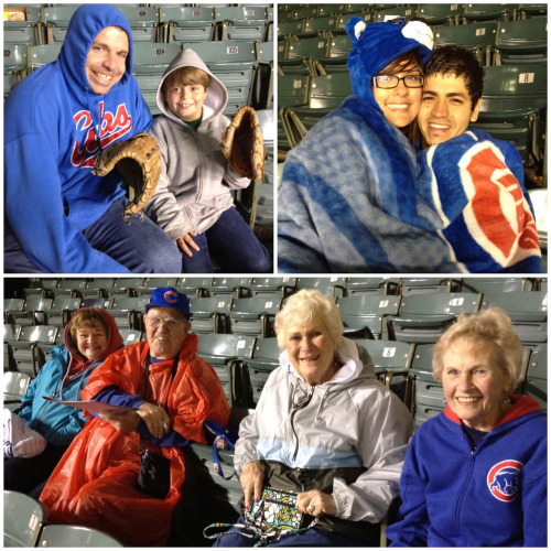 Wrigley Field first-timers as well as long-time veterans braved the long rain delay and storms for the same reason… They are diehard Cubs fans ready to see a W!