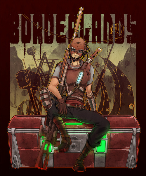firecomingoutofamonkeyzhead:  BORDERLANDS:Mordecai 2 by ~KEISUKEgumby For more Stuff like this Follow Me Here! :)