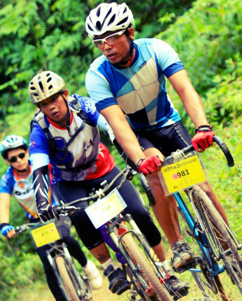 "Kayuh Bendang 2012 Cycling distance estimated 45-50km. lines covering the area of oil palm plantations, rubber plantations, Paddy fields and Bukit Birut. Keeping the same concept of ""ride for fun and health"" … riding meet old and new friends from all over the country interested in sports mountain bike .. but ……… I use a fixed gear!! fixed forever!"