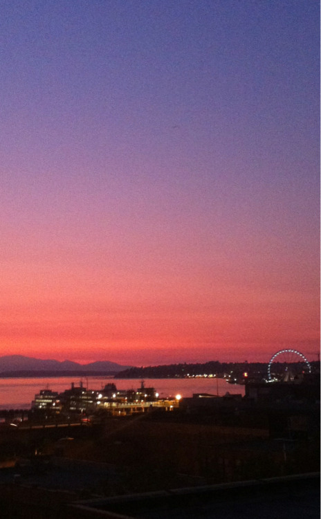 Enjoying one of the last clear sunsets in Seattle :)