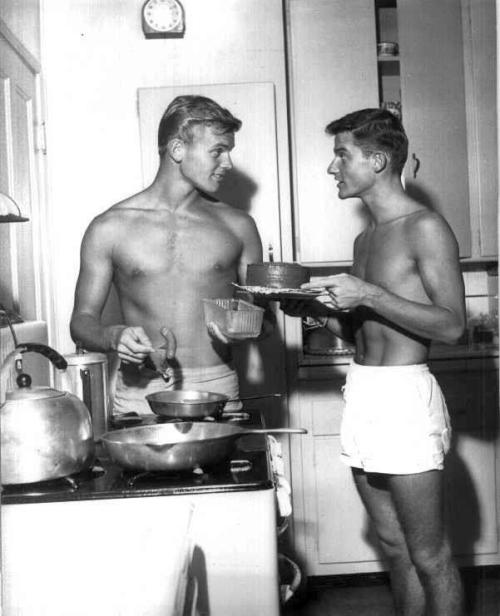 Roddy McDowall & Tab Hunter