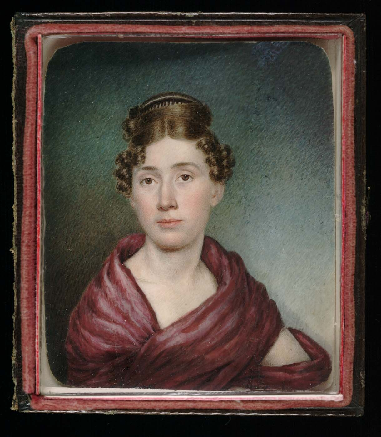 coolchicksfromhistory:  Miniature self-portrait, Sarah Goodridge, circa 1825. Smithsonian American Art Museum Sarah Goodridge was a leading painter of miniatures in pre-Civil War Boston.  An unusually successful female artist for the times, Sarah was able to support her family through her artwork.  She received commissions from notable figures such as Daniel Webster and Gilbert Stuart.  Her work was exhibited at the annual exhibitions of the Boston Athenaeum between 1827 and 1835.