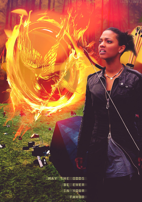 lazoey:  AU MEME | Martha Jones as Katniss Everdeen (requested by ladybastet92)  Martha Jones. The Girl on Fire.The world will be watching.